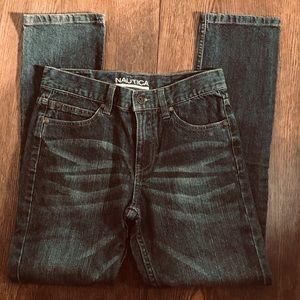 3/$30 Boys Size 12 Nautica Dark Wash Jeans